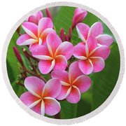 Plumeria After The Rain II Round Beach Towel