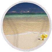 Plumeria Pair Round Beach Towel