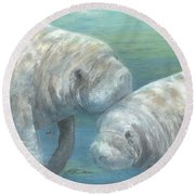 Plump And Placid Round Beach Towel