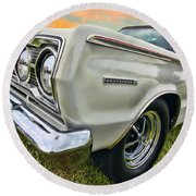 Plymouth Belvedere II  Round Beach Towel