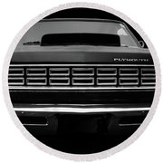 Plymouth Fury - Black Round Beach Towel