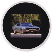 Plymouth Road Runner Round Beach Towel
