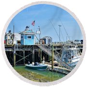 Plymouth Waterfront Round Beach Towel