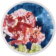 Png Leaf Fish Round Beach Towel
