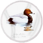 Pochard Round Beach Towel