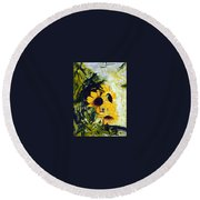 pocta VvG-scetch n-2 Round Beach Towel