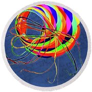 Poetry Of Kite Swirls Round Beach Towel