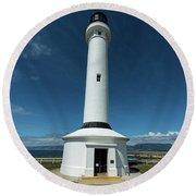 Point Arena Lighthouse  Round Beach Towel