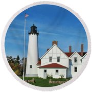 Point Iroquois Round Beach Towel