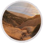 Point La Jolla Round Beach Towel