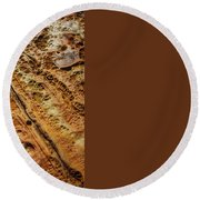 Point Lobos Abstract 106 Round Beach Towel