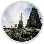 Point Of The Arches 4 Round Beach Towel