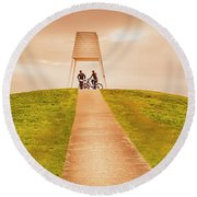 Point Ormond To The City Round Beach Towel