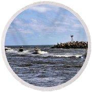Point Pleasant New Jersey Round Beach Towel