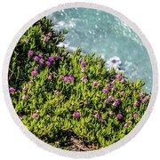 Point Reyes National Seashore Coast On Pacific Ocean Round Beach Towel