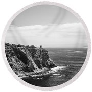 Point Vicente Lighthouse Round Beach Towel