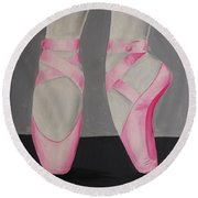 Pointe Shoes Round Beach Towel