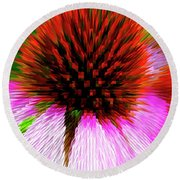 Pointed Flower Round Beach Towel