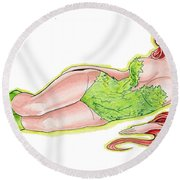 Poison Ivy 3 Round Beach Towel