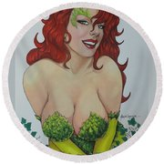 Poison Ivy Round Beach Towel