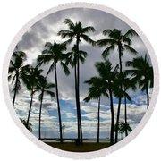 Poka'i Bay, Waianae, Hawaii  Round Beach Towel
