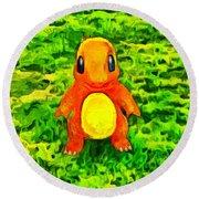 Pokemon Go Charmander - Da Round Beach Towel