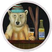 Polar Beer Round Beach Towel