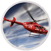 Polar First Helicopter Round Beach Towel