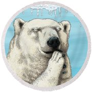 Polar Prayer Round Beach Towel