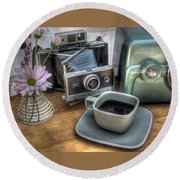 Polaroid Perceptions Round Beach Towel by Jane Linders