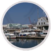 Police Station Round Beach Towel