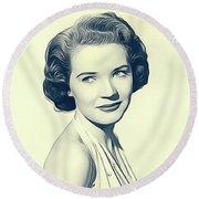 Polly Bergen, Vintage Actress Round Beach Towel