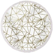 Polly Universe II Round Beach Towel