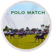 Polo Match Florida Round Beach Towel