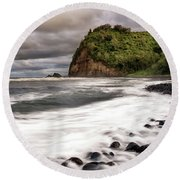 Pololu Whitewash Round Beach Towel