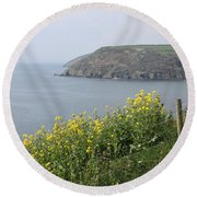 Polperro To Looe Round Beach Towel