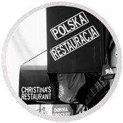 Polska Restauracja Round Beach Towel