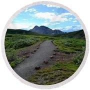 Polychrome Pass Trail, Denali Round Beach Towel