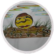 Pomme De Terre-potato-  Round Beach Towel
