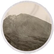 Pompeii: Mt. Vesuvius, C1890 Round Beach Towel