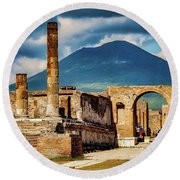Pompeii Redeux Round Beach Towel