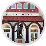 Ponca City City Hall Round Beach Towel