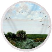Ponce De Leon Lighthouse Round Beach Towel
