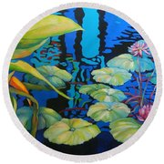 Pond 1 Pond Series Round Beach Towel