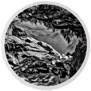 Pond At Great Falls #4 Round Beach Towel