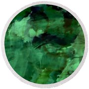Pond Life Abstract Round Beach Towel