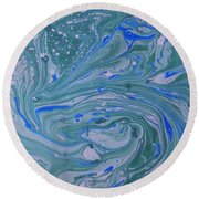 Pond Swirl 3 Round Beach Towel