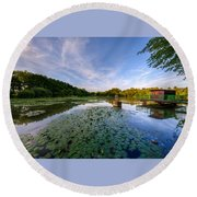 Pond Round Beach Towel