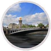 Pont Alexandre IIi Round Beach Towel