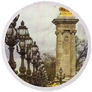 Pont Alexandre IIi Paris Round Beach Towel